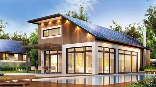 panneaux solaires installés sur une maisons